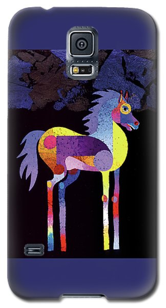 Galaxy S5 Case featuring the painting Night Foal by Bob Coonts