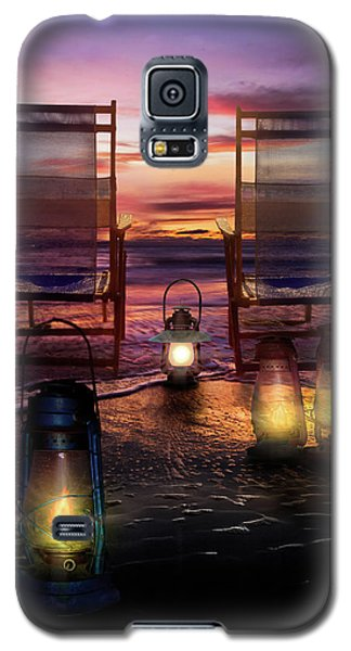 Galaxy S5 Case featuring the photograph Night Lights At Sunset by Debra and Dave Vanderlaan