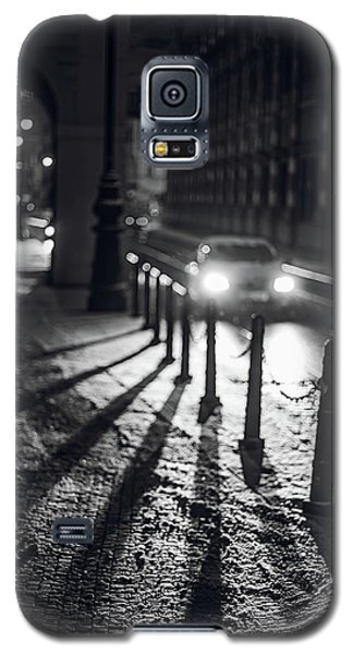 Galaxy S5 Case featuring the photograph Night Lights. Prague by Jenny Rainbow