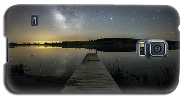 Galaxy S5 Case featuring the photograph Night On The Dock by Aaron J Groen