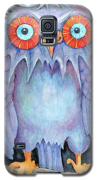 Galaxy S5 Case featuring the painting Night Owl by Lora Serra