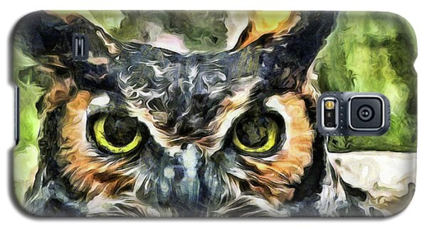 Galaxy S5 Case featuring the mixed media Night Owl by Trish Tritz