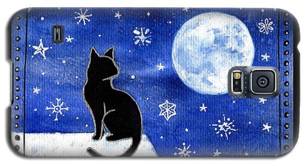 Night Patrol At Wintertime Galaxy S5 Case