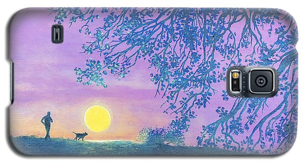 Galaxy S5 Case featuring the painting Night Runner by Susan DeLain