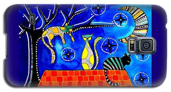 Night Shift - Cat Art By Dora Hathazi Mendes Galaxy S5 Case by Dora Hathazi Mendes