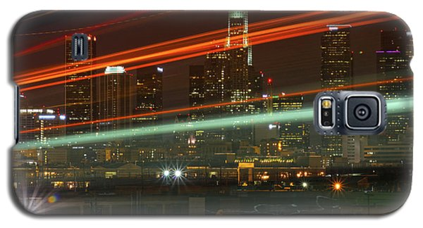 Night Shot Of Downtown Los Angeles Skyline From 6th St. Bridge Galaxy S5 Case
