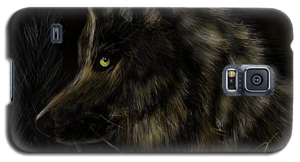 Night Silent Wolf Galaxy S5 Case