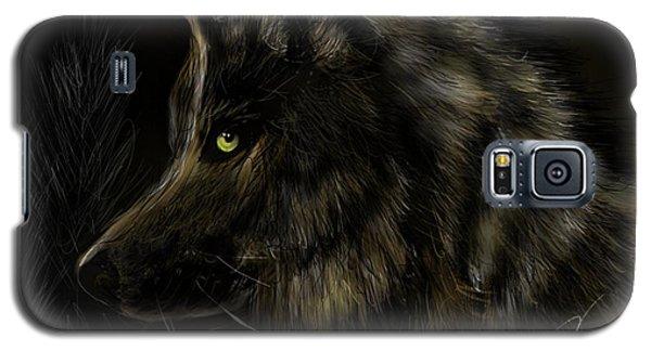 Night Silent Wolf Galaxy S5 Case