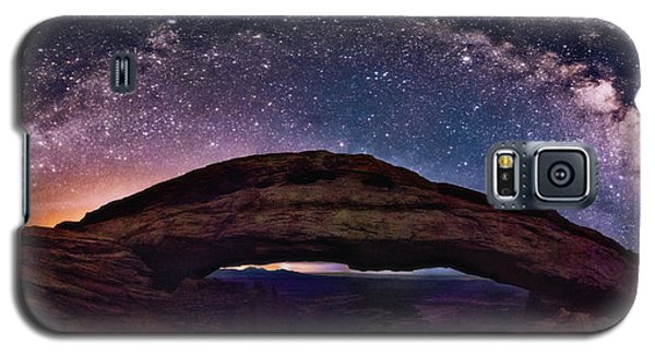Night Sky Over Mesa Arch Utah Galaxy S5 Case