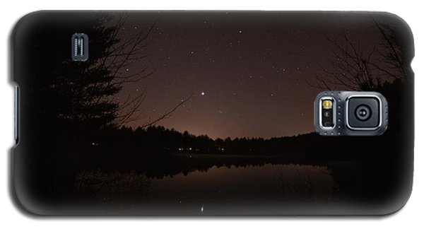 Night Sky Over The Pond Galaxy S5 Case
