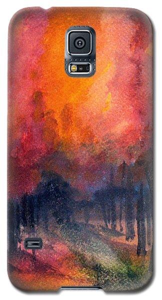 Galaxy S5 Case featuring the painting Night Time Among The Maples by Laurie Rohner
