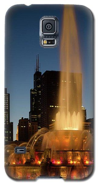 Night Time Fountain Galaxy S5 Case