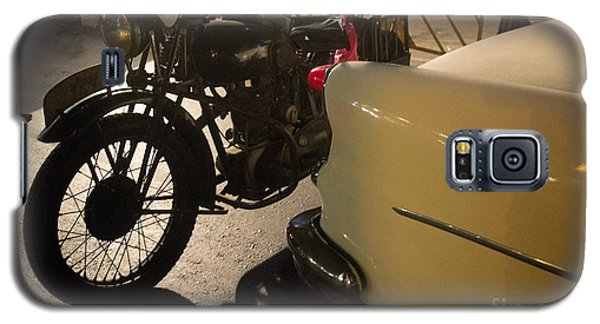 Night Time Silhouette Of Vintage Motorcycle Near Tail Of 50's St Galaxy S5 Case