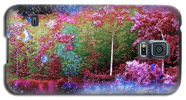 Night Trees Starry Lake Galaxy S5 Case