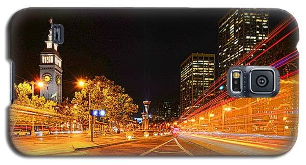 Galaxy S5 Case featuring the photograph Night Trolley On Time by Steve Siri