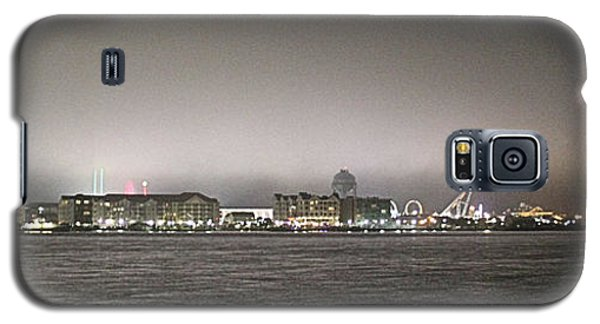Night View Ocean City Downtown Skyline Galaxy S5 Case