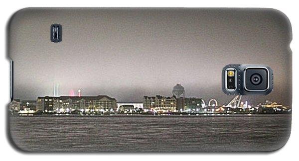 Night View Ocean City Downtown Skyline Galaxy S5 Case