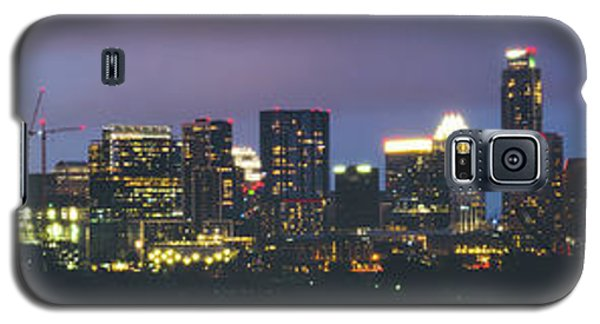 Night View Of Downtown Skyline In Winter Galaxy S5 Case
