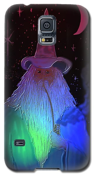 Galaxy S5 Case featuring the painting Night Wizard by Kevin Caudill