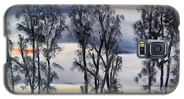 Galaxy S5 Case featuring the painting Nightfall Approaching by Marilyn  McNish