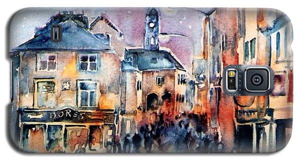 Galaxy S5 Case featuring the painting Nightfall. High St. Kilkenny City  Ireland  by Trudi Doyle