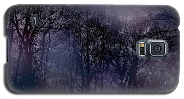 Galaxy S5 Case featuring the photograph Nightfall In The Woods by Sandy Moulder