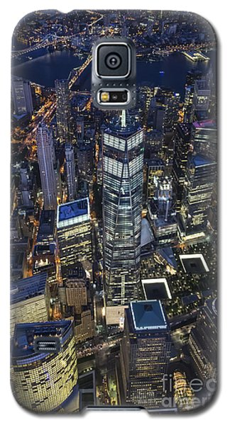 Galaxy S5 Case featuring the photograph Nighttime Aerial View Of 1 Wtc by Roman Kurywczak