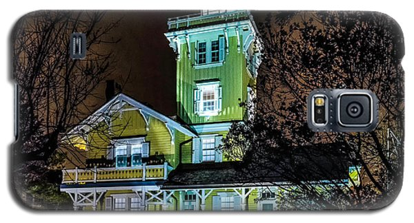 Galaxy S5 Case featuring the photograph Nighttime Fog At Hereford Inlet by Nick Zelinsky