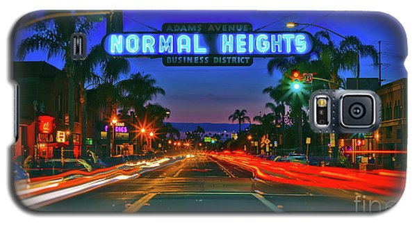 Nighttime Neon In Normal Heights, San Diego, California Galaxy S5 Case
