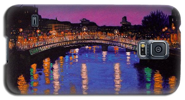 Nighttown Ha Penny Bridge Dublin Galaxy S5 Case by John  Nolan