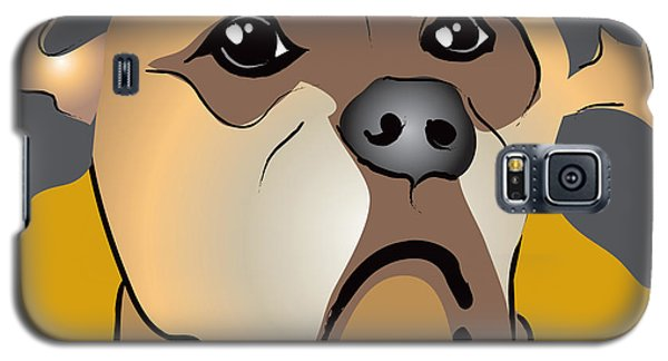 Niki Boxer Dog Portrait Galaxy S5 Case