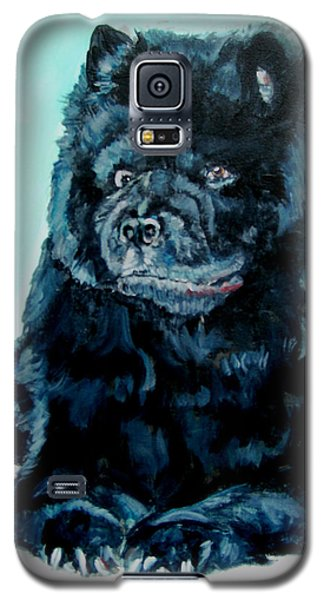 Galaxy S5 Case featuring the painting Nikki The Chow by Bryan Bustard