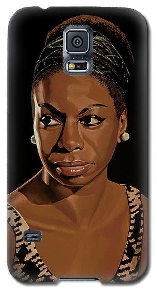 Rhythm And Blues Galaxy S5 Case - Nina Simone Painting 2 by Paul Meijering