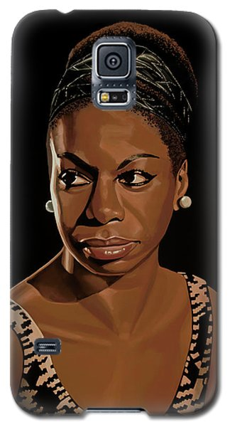 Rhythm And Blues Galaxy S5 Case - Nina Simone Painting 2 by Paul Meijering