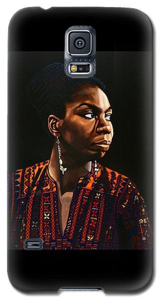 Nina Simone Painting Galaxy S5 Case by Paul Meijering