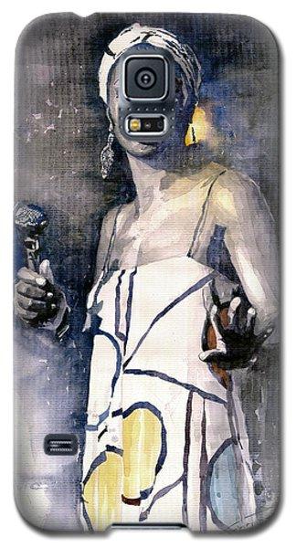 Portret Galaxy S5 Case - Nina Simone by Yuriy Shevchuk