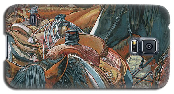 Galaxy S5 Case featuring the painting Nine Saddled by Nadi Spencer