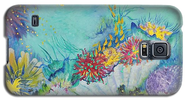 Galaxy S5 Case featuring the painting Ningaloo Reef by Lyn Olsen