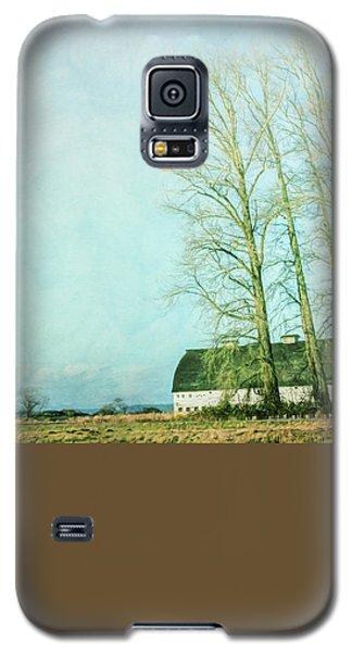 Galaxy S5 Case featuring the photograph Nisqually Barns by Jean OKeeffe Macro Abundance Art