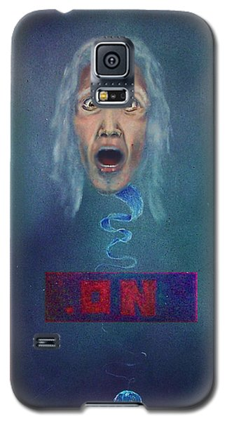 Galaxy S5 Case featuring the painting No Entry Into Heaven by Albert Puskaric