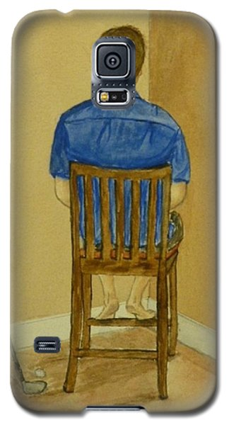 Galaxy S5 Case featuring the painting No Golf For You Today by Kelly Mills