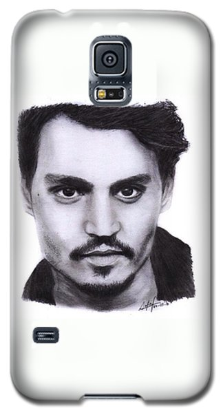 Johnny Depp Drawing By Sofia Furniel Galaxy S5 Case