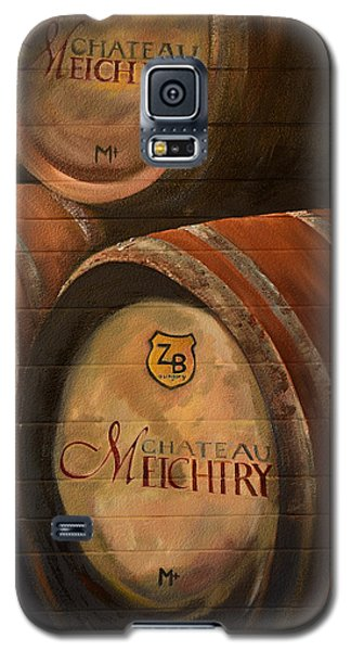No Wine Before It's Time - Barrels-chateau Meichtry Galaxy S5 Case by Jan Dappen