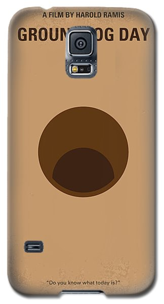 No031 My Groundhog Minimal Movie Poster Galaxy S5 Case by Chungkong Art