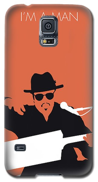 Rhythm And Blues Galaxy S5 Case - No103 My Bo Diddley Minimal Music Poster by Chungkong Art