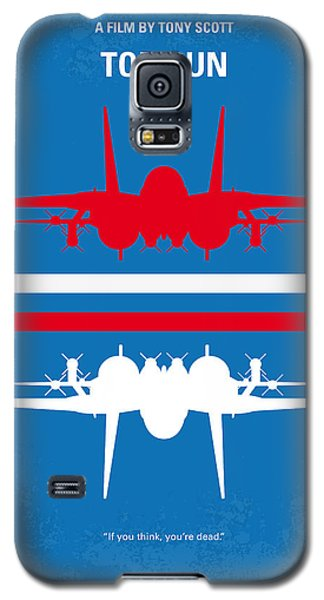 No128 My Top Gun Minimal Movie Poster Galaxy S5 Case by Chungkong Art