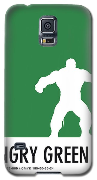 Spider Galaxy S5 Case - No22 My Minimal Color Code Poster Hulk by Chungkong Art