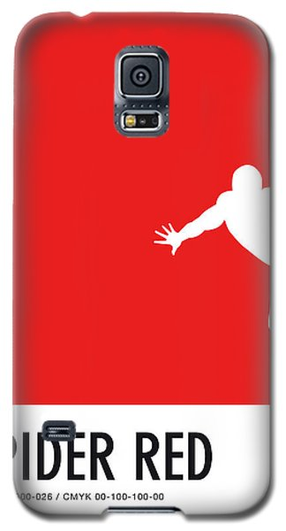 Spider Galaxy S5 Case - No24 My Minimal Color Code Poster Spiderman by Chungkong Art