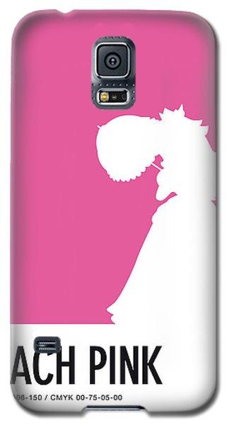 Daisy Galaxy S5 Case - No44 My Minimal Color Code Poster Peach by Chungkong Art