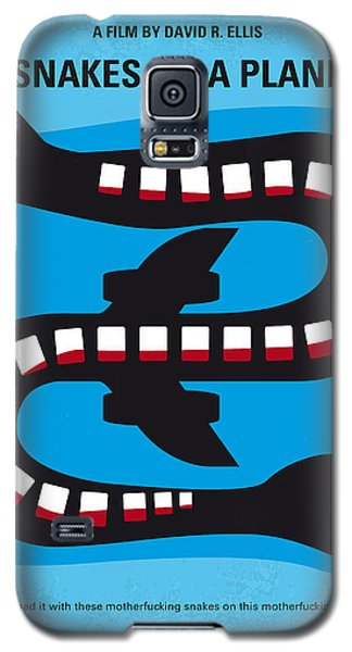 Snake Galaxy S5 Case - No501 My Snakes On A Plane Minimal Movie Poster by Chungkong Art